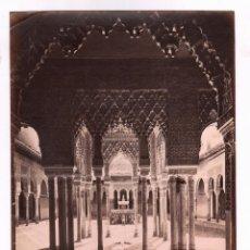 Fotografía antigua: GRANADA, 1113. PATIO DE LOS LEONES, ALHAMBRA. FOTO: LAURENT. 24,5X33 CM.. Lote 47712780