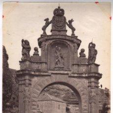 Fotografía antigua: SEGOVIA, 1313. EL ARCO DE LA FUENCISLA, FOTO: LAURENT. 33,5X24,5CM.. Lote 47712934