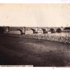 Fotografía antigua: IRÚN, NUM 1529. EL PUENTE INTERNACIONAL POR LA PARTE DE ESPAÑA, FOTO: LAURENT. 1865-75 . 24,5X33CM. Lote 47892814