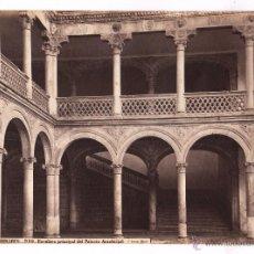 Fotografía antigua: ALCALÁ DE HENARES, 936. ESALERA PRINCIPAL DEL ARZOBISPADO, FOTO: LAURENT, MADRID. 1865-75 APROX.. Lote 47892881