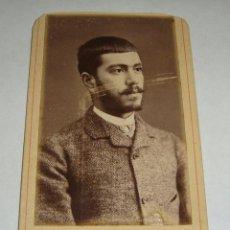 Fotografía antigua: ANTIGUA FOTOGRAFÍA. ALBUMINA. S.XIX. FOTOGRAFO AMIS UNAL - GERONA. Lote 47905632