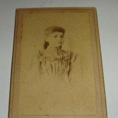 Fotografía antigua: ANTIGUA FOTOGRAFÍA. ALBUMINA. S.XIX. FOTOGRAFÍA DE F. MARTÍN - MALAGA. Lote 47916337