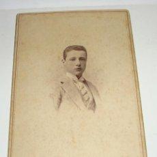 Fotografía antigua: ANTIGUA FOTOGRAFÍA. ALBUMINA. S.XIX. FOTOGRAFO ALVIACH - MADRID (17 CM X 10,5 CM). Lote 47916964