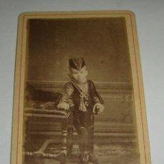 Fotografía antigua: ANTIGUA FOTOGRAFÍA. S.XIX. ALBUMINA. FOTÓGRAFO AMIS UNAL - GERONA. Lote 47951048