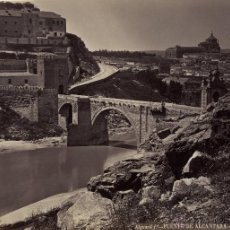 Fotografía antigua: ALGUACIL. TOLEDO. EL PUENTE DE ALCANTARA. Lote 47968212