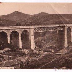 Fotografía antigua: NORTE, 194. VIADUCTO DE PAMPLONA, FOTO: LAURENT. 24,6X33,5CM.. Lote 48101115