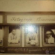 Fotografía antigua: 1897 PHILIPPINES FILIPINAS REVOLUCIÓN - ORIGINAL Y ÚNICA FOTOGRAFÍA - PIÑON FOT. - EMILIO AGUINALDO. Lote 48200351