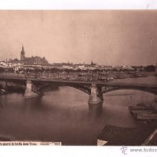 Fotografía antigua: SEVILLA, 1433. VISTA GENERAL DESDE TRIANA, FOTO: LAURENT. 22X34CM.. Lote 48278941