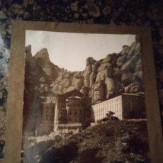 Fotografía antigua: MONTSERRAT - FOTOGRAFIA MUY ANTIGUA MEDIDAS 18 X 23,6. Lote 48385768