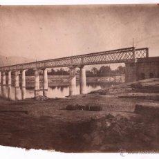 Fotografía antigua: ESPAÑA, PUENTE POR IDENTIFICAR, 1870'S. FOTO: LAURENT 25X33CM.. Lote 48443794
