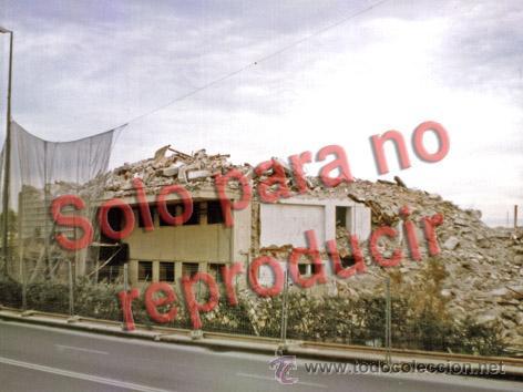 ALICANTE FOTOGRAFÍA ANTIGUO CLUB DE REGATAS DERRIBO AÑO 1999 TAMAÑO 20X15CM (Fotografía Antigua - Albúmina)