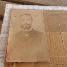 Fotografía antigua: FOTO FOTOGRAFIA ALBUMINA CABALLERO FOTOGRAFO . Lote 48537878