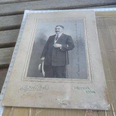 Fotografía antigua: FOTO FOTOGRAFIA ALBUMINA CABALLERO FOTOGRAFO ACHILTES LISBOA. Lote 48543798