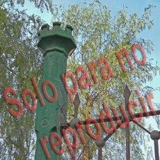 Fotografía antigua: ALICANTE FOTOGRAFIA BENALUA ANTIGUO CUARTEL DETALLE VERJA TAMAÑO 20X15 CM. Lote 48697674
