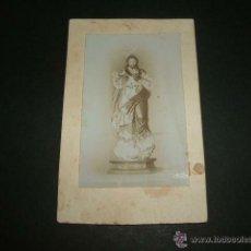 Fotografía antigua: SAGRADO CORAZON DE JESUS ANTIGUA FOTOGRAFIA ALBUMINA SIGLO XIX. Lote 48734390