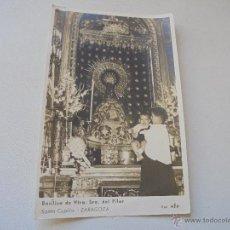 Fotografía antigua: ANTIGUA FOTOGRAFÍA-BASÍLICA DE NTRA. SRA. DEL PILAR SANTA CAPILLA-ZARAGOZA-17 X 11 CM-FOT. AFA-S/F. Lote 48734764