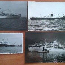 Fotografía antigua: TRES FOTOGRAFÍAS BARCOS + UNA POSTAL. Lote 48735120