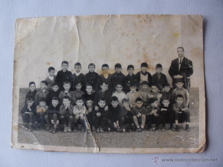 ANTIGUA FOTOGRAFIA ESCUELA DE BENIAJAM. MURCIA. AÑOS 50-60S NIÑOS ESCUELA DE MURCIA (Fotografía Antigua - Albúmina)