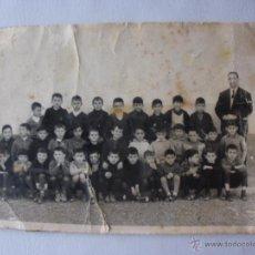 Fotografía antigua: ANTIGUA FOTOGRAFIA ESCUELA DE BENIAJAM. MURCIA. AÑOS 50-60S NIÑOS ESCUELA DE MURCIA. Lote 48773349