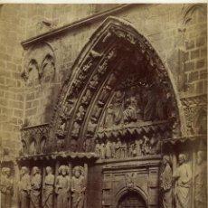Fotografía antigua: CHARLES CLIFFORD BURGOS. 1853. PUERTA DE LOS APÓSTOLES. CATEDRAL DE BURGOS.. Lote 48884854