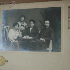 Fotografía antigua: FOTO FAMILIA BURGUESÍA CATALANA - YRLA Y VIAL - BARCELONA - 1912. Lote 49524695