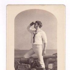 Fotografía antigua: GEORGE RIGNOLD - WILLIAM IN BLACK EYES SUSAN, FOTO: SARONY, NEW YORK.. Lote 49683527