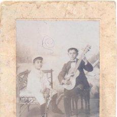 Fotografía antigua: ANTEQUERA,SIGLO XIX. ESPECTACULAR ALBUMINA SOBRE CARTON, NIÑOS, FOT.A.CABALLERO.LEER MEDIDAS. Lote 49786201