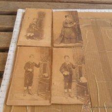 Fotografía antigua - 4 ANTIGUAS FOTO FOTOGRAFIAS ALBUMINA DE COMPONENTES DE UNA MISMA FAMILIA - 49886480