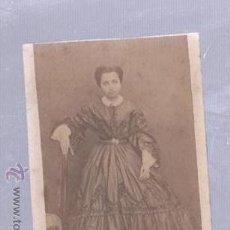 Fotografía antigua: FOTOGRAFIA ANTIGUA. RETRATO DE SEÑORA CON TRAJE DE EPOCA. 6 X 8CM. Lote 50016766