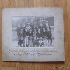 Fotografía antigua: FOTO ANTIGUA O ALBUMINA ESCUELA DE NIÑOS DE TORRERO ZARAGOZA, 1912. Lote 50047477
