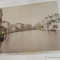 Fotografía antigua: ALBUM CON 82 FOTOGRAFIAS ANTIGUAS DE ITALIA - NIZA - NAPOLES - POMPEYA - ROMA - FLORENCIA - VENECIA. Lote 50061408