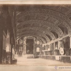 Fotografía antigua: EL ESCORIAL, 318. VISTA DE LA SACRISTÍA DEL MONASTERIO, FOTO: LAURENT, MADRID.. Lote 50103453