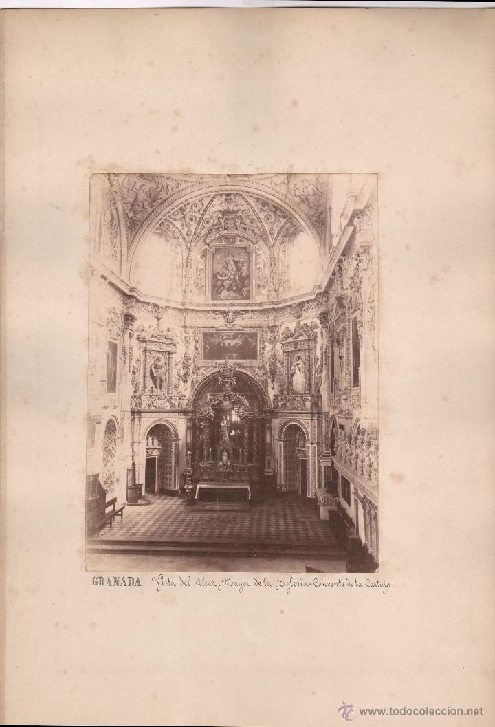 GRANADA, ALTAR MAYOR DE LA IGLESIA DE LA CARTUJA, 1860'S. FOTÓGRAFO POR IDENTIFICAR. 17X23 CM. (Fotografía Antigua - Albúmina)