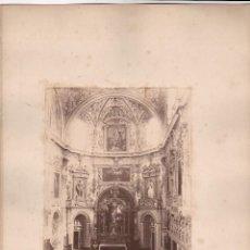 Fotografía antigua: GRANADA, ALTAR MAYOR DE LA IGLESIA DE LA CARTUJA, 1860'S. FOTÓGRAFO POR IDENTIFICAR. 17X23 CM.. Lote 50230005