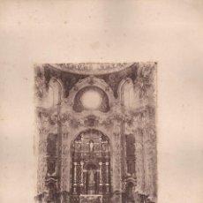 Fotografía antigua: GRANADA, ALTAR MAYOR DE LA IGLESIA DE LA CARTUJA, 1860'S. FOTÓGRAFO POR IDENTIFICAR. 17X23 CM.. Lote 50230035