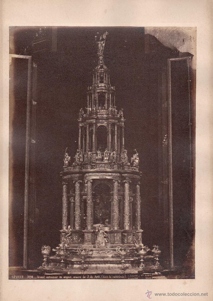 SEVILLA, 320. GRAN ALTAR EN PLATA DE LA CATEDRAL, FOTO: LAURENT, MADRID. 25X34 CM. (Fotografía Antigua - Albúmina)