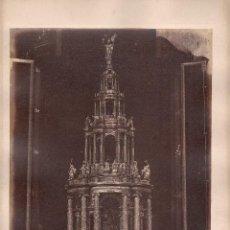 Fotografía antigua: SEVILLA, 320. GRAN ALTAR EN PLATA DE LA CATEDRAL, FOTO: LAURENT, MADRID. 25X34 CM.. Lote 50230418