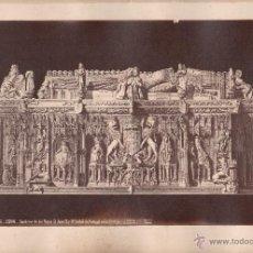 Fotografía antigua: BURGOS, 1596. SEPULCRO DE LOS REYES JUAN II E ISABEL DE PORTUGAL, FOTO: LAURENT, 25X34 CM.. Lote 50231097