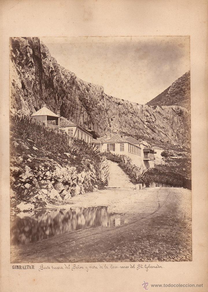 GIBRALTAR, 1860'S. ALBÚMINA 31X25 CM. SIN DATOS DEL FOTÓGRAFO. (Fotografía Antigua - Albúmina)