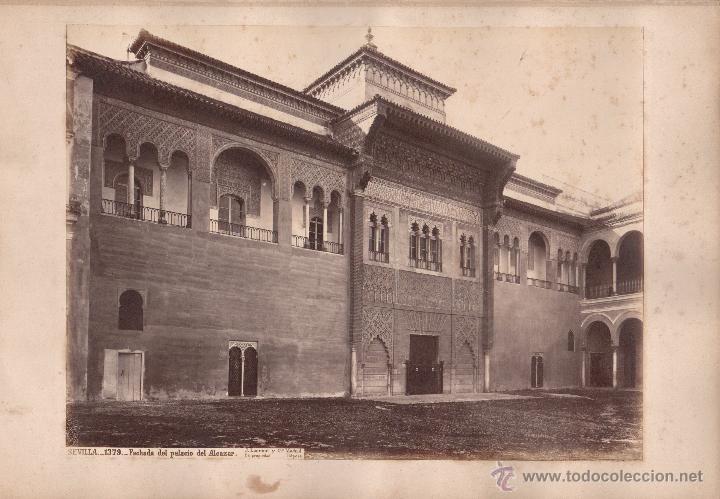 SEVILLA, 1379. PALACIO DEL ALCÁZAR, FOTO: LAURENT, MADRID. 25X34 CM. (Fotografía Antigua - Albúmina)