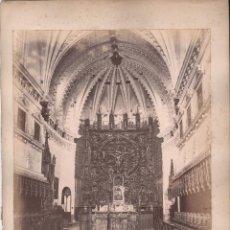Fotografía antigua: BURGOS, LA CARTUJA, 1576. VISTA INTERIOR DEL TEMPLO. FOTO: LAURENT, MADRID. 25X34 CM.. Lote 50231654