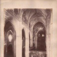 Fotografía antigua: SEVILLA, 1375. VISTA INTERIOR DE LA CATEDRAL, FOTO: LAURENT, MADRID. 25X34 CM.. Lote 50231684