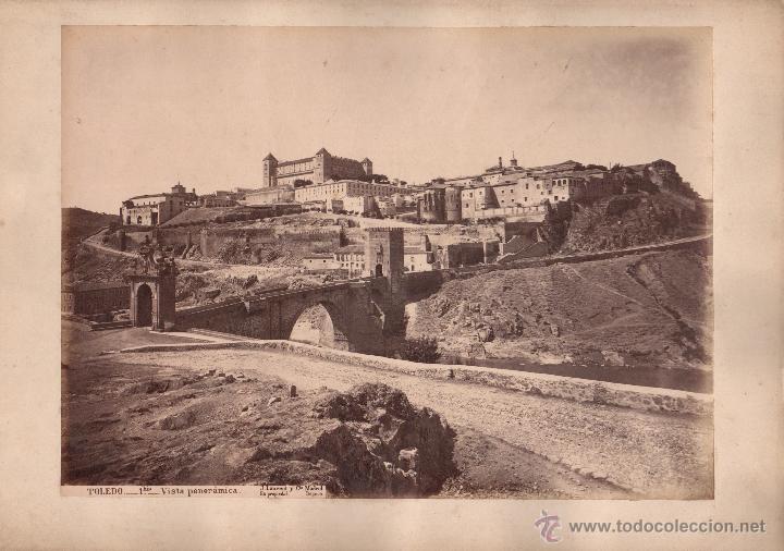 TOLEDO, 1BIS, VISTA PANORÁMICA, FOTO: LAURENT, MADRID. 25X34 CM. (Fotografía Antigua - Albúmina)