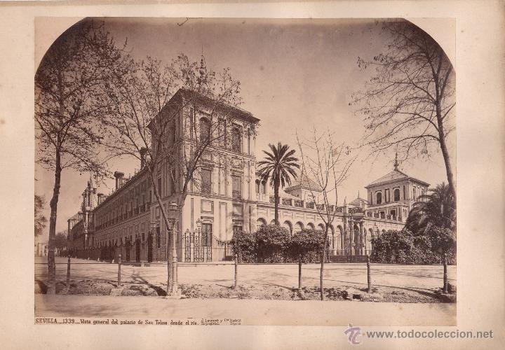 SEVILLA, 1339. VISTA DEL PALACIO DE SAN TELMO, FOTO: LAURENT, MADRID. 25X34 CM. (Fotografía Antigua - Albúmina)