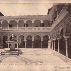Fotografía antigua: SEVILLA, PATIO DE LA CASA DE PILATOS, SEVILLA. FOTO: LAURENT, MADRID. 25X34 CM.. Lote 50231850