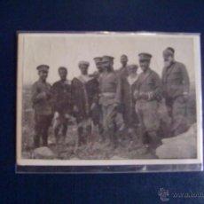 Fotografía antigua: FOTOGRAFÍA DE MILITARES ESPAÑOLES Y MIEMBROS DE TRIBUS MARROQUIES. PRINCIPIOS DEL SIGLO XX.. Lote 50354435