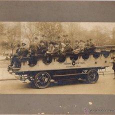Fotografía antigua: FOTOGRAFIA ALBUMINA AUTOMOBILES TOURING NEW YORK. CIRCA 1900. Lote 50531017