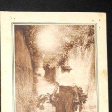 Fotografía antigua: ANTIGUA FOTOGRAFIA SEÑOR CON CARRETILLA. Lote 50621264