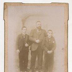 Fotografía antigua: FOTOGRAFIA ALBUMINA FOTOGRAFO LOS ITALIANOS. SANTANDER. CIRCA 1870. Lote 50700922