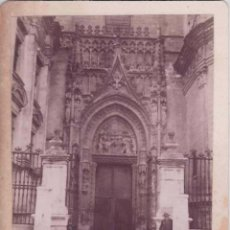 Fotografía antigua - SEVILLA. ALBUMINA 15X12 CM, Nº 80 CATEDRAL, PUERTA DE LAS CAMPANILLAS. FOT. RAMON ALMELA - 50709840